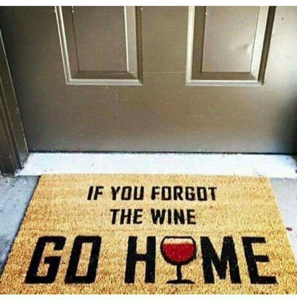 Wine Welcome Mat Wine Decor Wine Meme Wine Humor