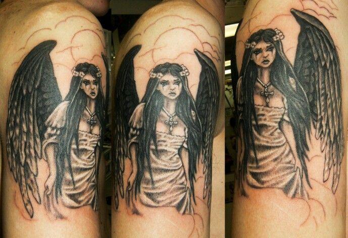 Tattoo Goth Angel Tattoos Goth Art
