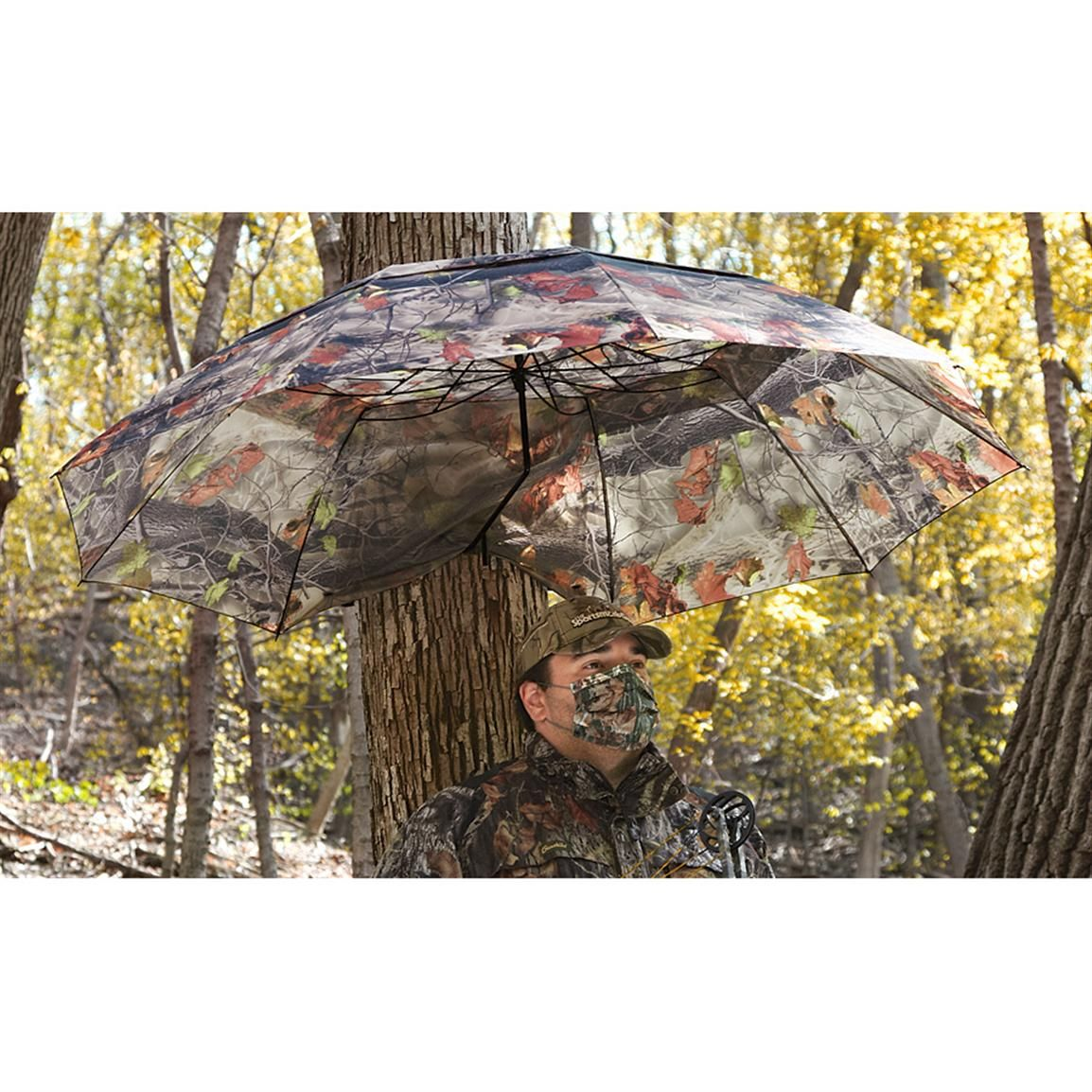 Guide Gear Camo Umbrella Blind 222210 Ground Blinds At Sportsman S Guide Ground Blinds Umbrella Fishing Umbrella