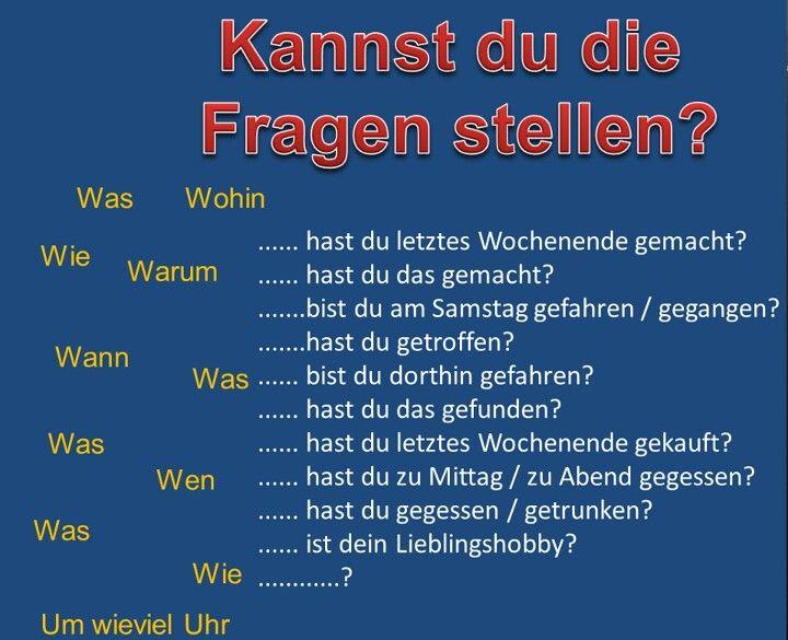 match question words with sentence fragments | kreadeutschgrammatik ...