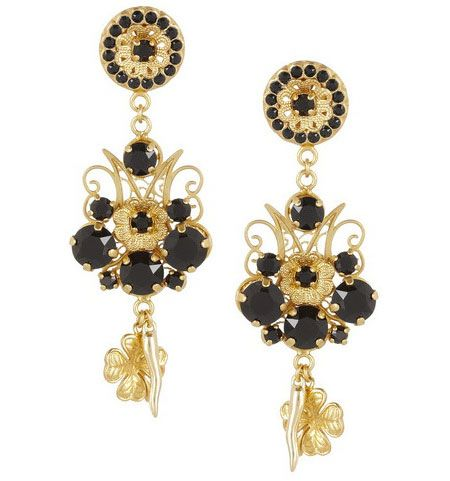 gold dolce and metallic dropped loop gabbana normal jewelry product in earrings lyst