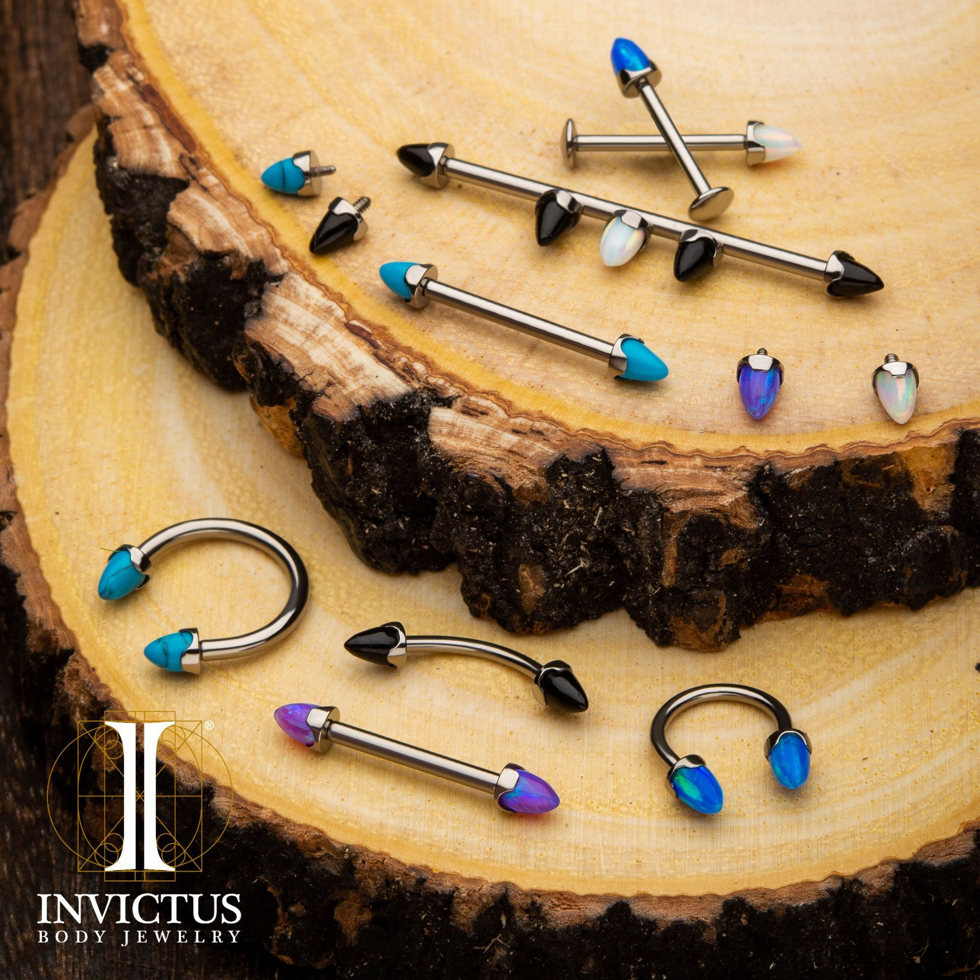 Fancy a barbell? A scaffold? A curved barbell? Anything at all with these shiny prong spikes in a selection of opalescent colors that will add some color in your punk rock life.    #invictusjewelry #invictus #invictusbodyjewelry #jewelry #pierced #piercings #peoplewithpiercings #pierced #titanium #titaniumjewerly #gorgeous #14kgold #14kgoldjewerly #love #beautiful #threadlessjewelry #freshpiercing  #InvictusLove #interallythreadedjewelry #safepiercing #earrangement #bodyjewelry