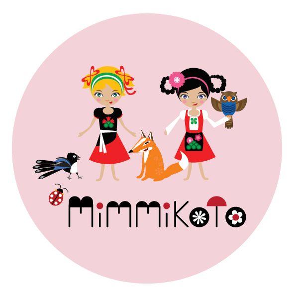 "Meri Mort, Helsinki, Finland based illustrator. Visual identity for a children's TV-serie ""Mimmikoto""."