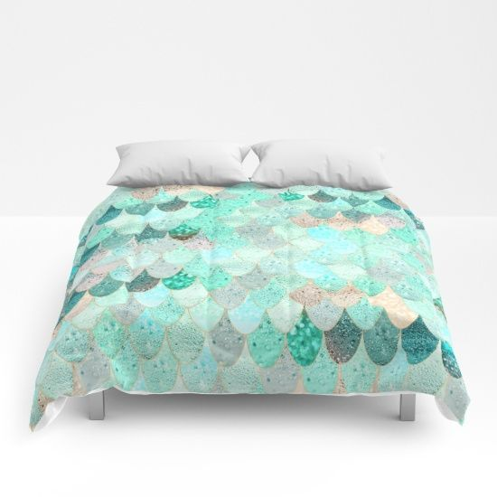 Our Comforters Are Cozy Lightweight Pieces Of Sleep Heaven Designs Are Printed Onto 100 Microfiber Polyester Fa Mermaid Comforter Comforters Mermaid Bedding