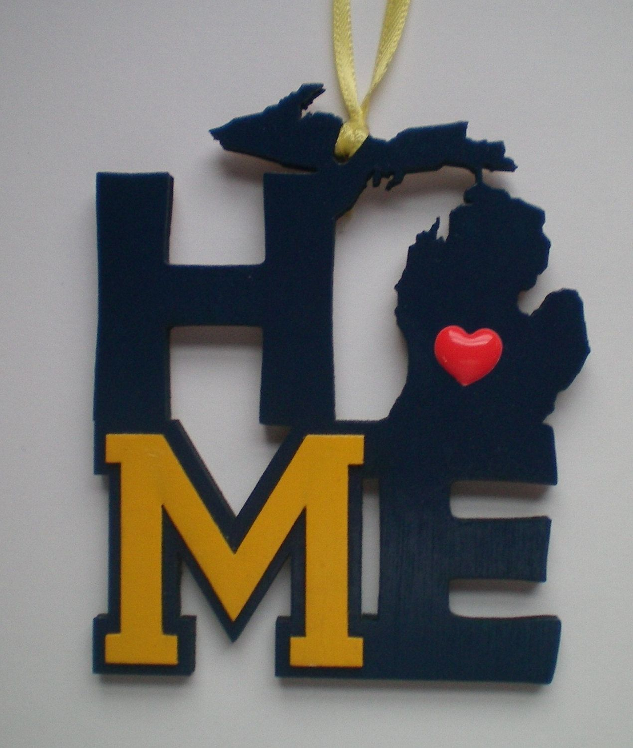 University of michigan christmas ornaments - University Of Michigan Wolverines Home Christmas Ornament