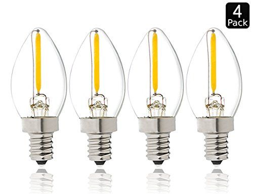 Luxrite Lr21230 4pack Led Filament C7 Night Light Bulb 05watt Equivalent To 10w Incandescent C7 Night Light Bulb Warm White Night Light Bulbs Bulb Night Light