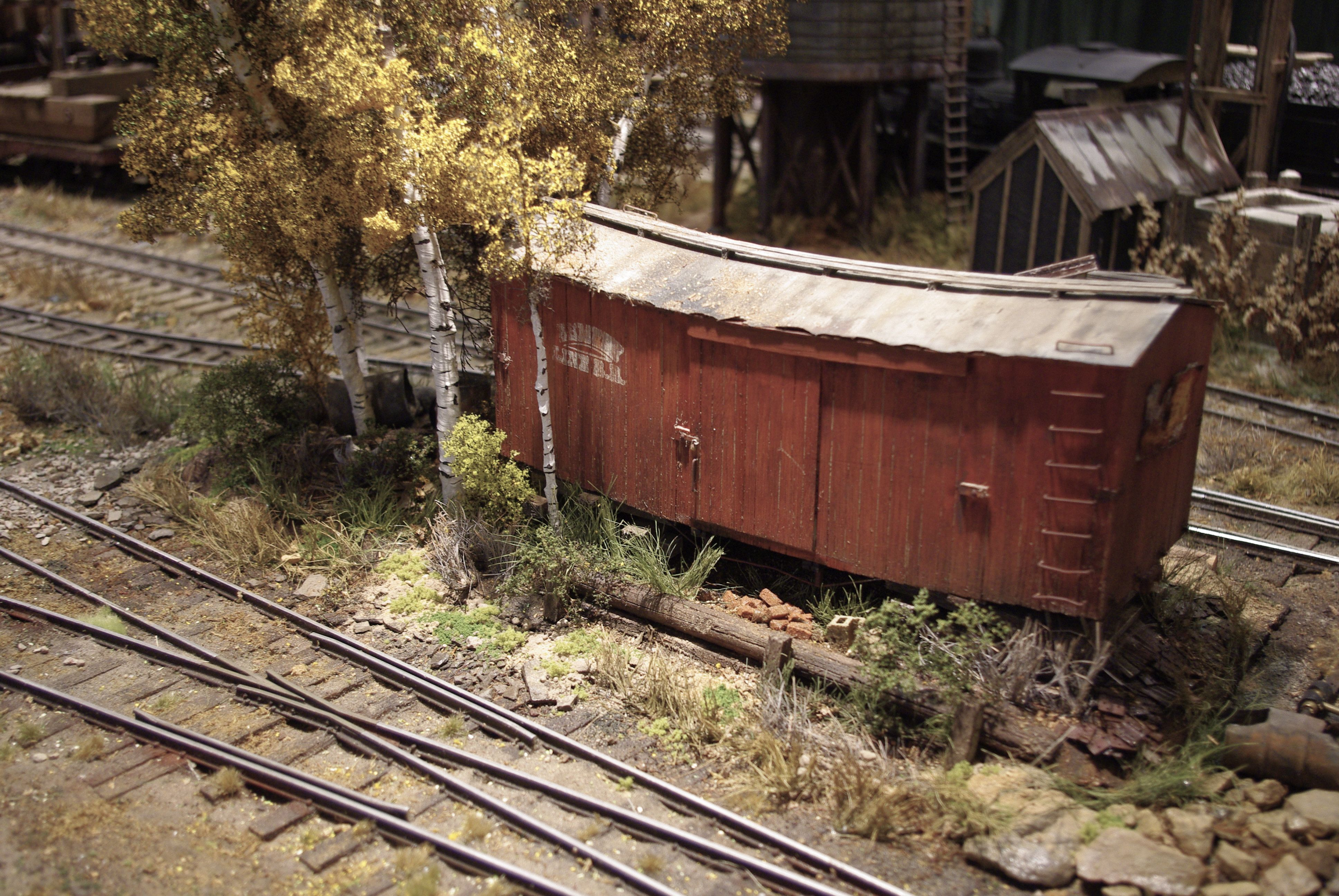 old box car and track details