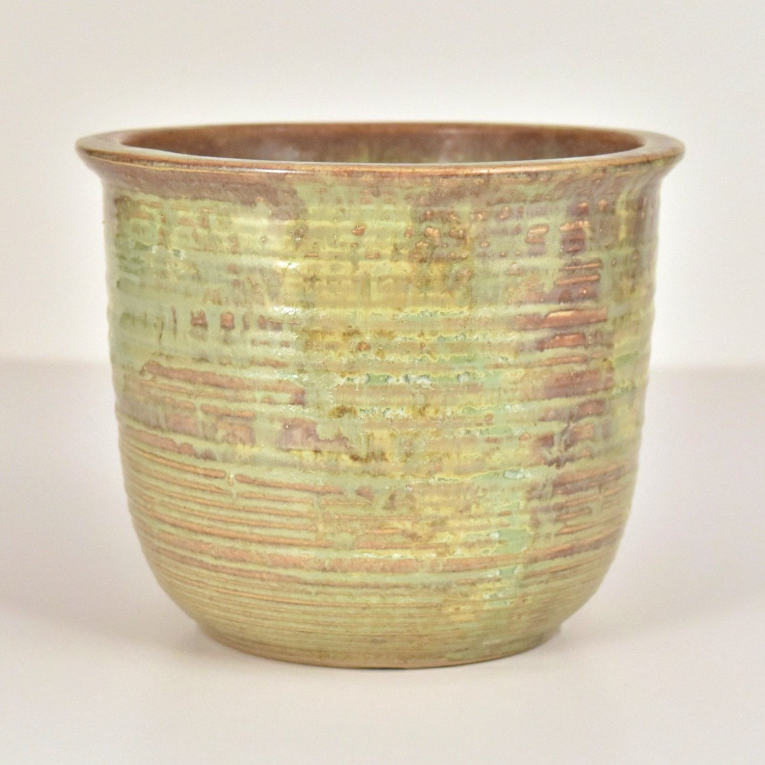 Western arts and crafts - Vintage Western Stoneware Monmouth Pottery Arts Crafts 7 935 Jardiniere Planter