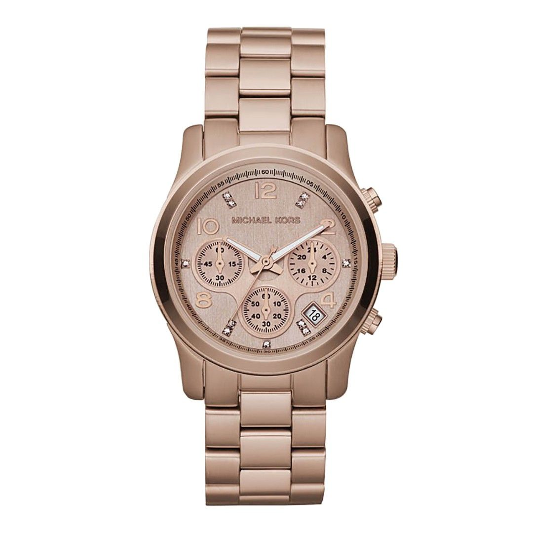 63510e06e416 Ladies Rose Gold Stainless Steel Watch. Michael Kors Watch Set