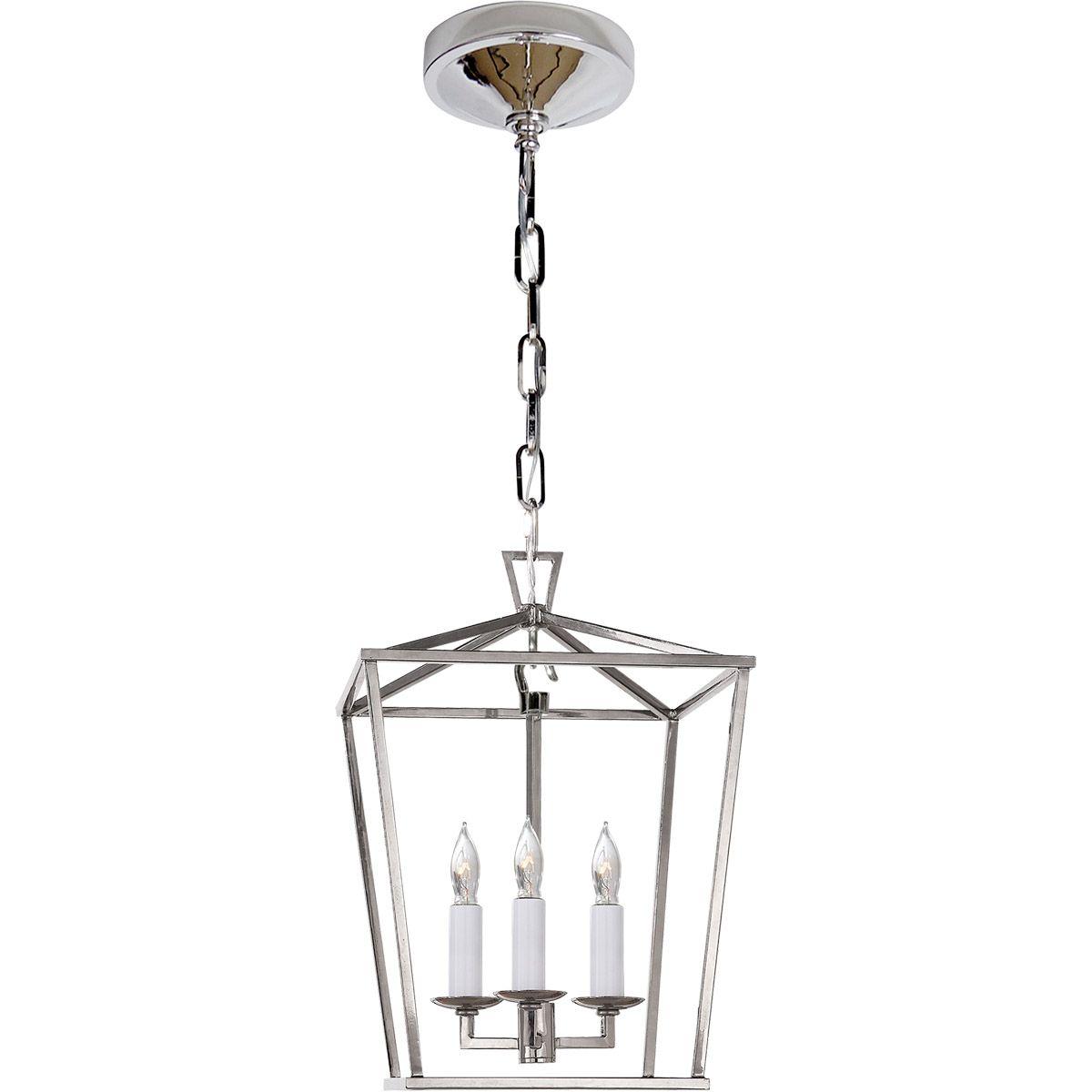 Visual Comfort Chc2175pn E F Chapman Darlana 3 Light 10 Inch Polished Nickel Foyer Pendant Ceiling Light Mini Lantern Pendant Light Lantern Pendant Lighting Mini Lanterns