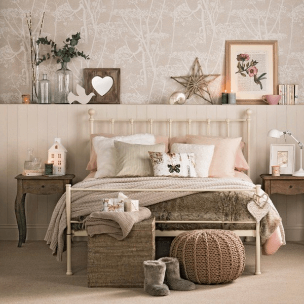 Schlafzimmer Deko Bett Shabby Chic Decor Bedroom Home Bedroom