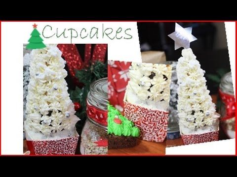 A video tutorial on how to make Christmas Tree Cupcakes!