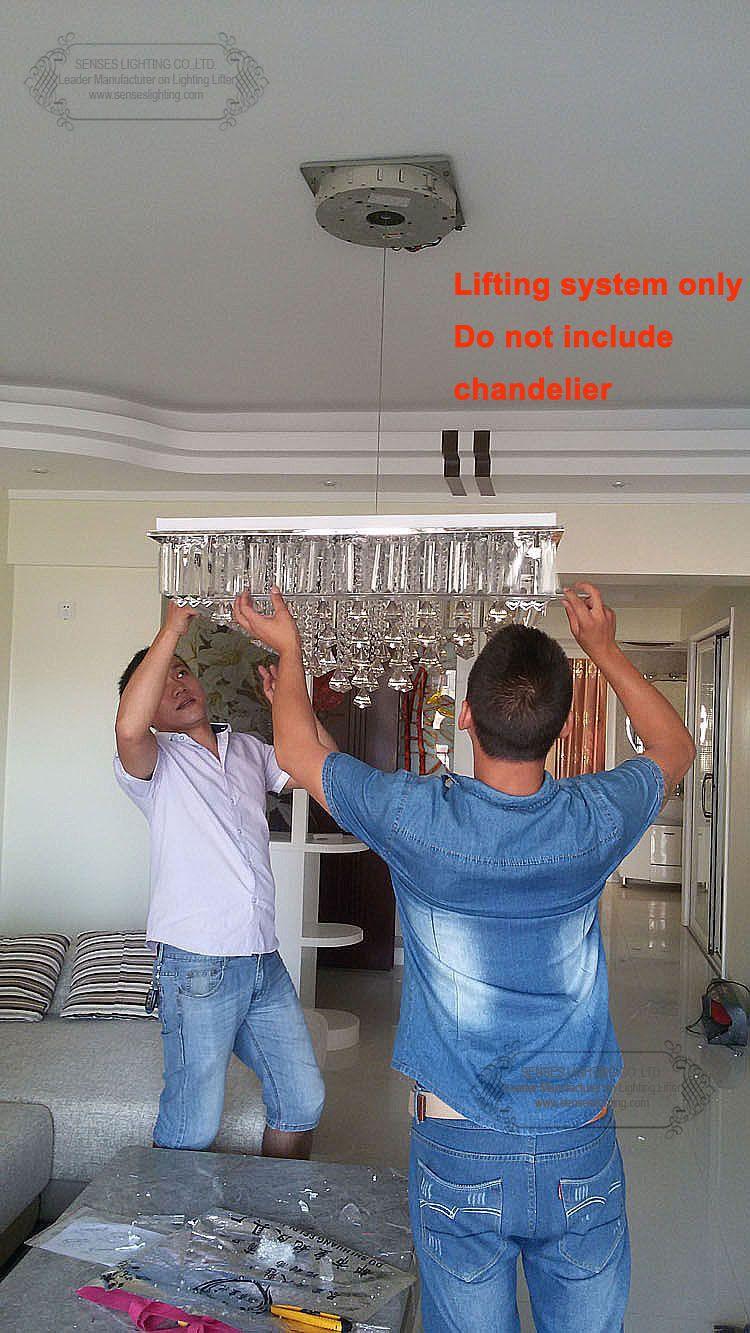 50kg 4m Chandelier Lift Chandelier Lowering System Lifter For Crystal Ceiling Lamp Chandelier Hoist 110v 120v 220v 240v Light Accessories Lighting