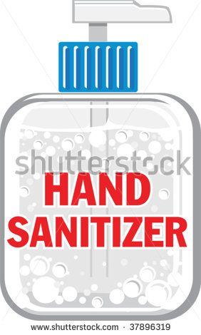 A Vector Illustration Of A Bottle Of Hand Sanitizer Stock Vector