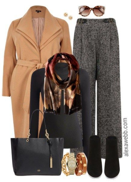 Plus Size Tweed Trousers Work Outfit - Plus Size Fashion for Women - alexawebb.com #alexawebb