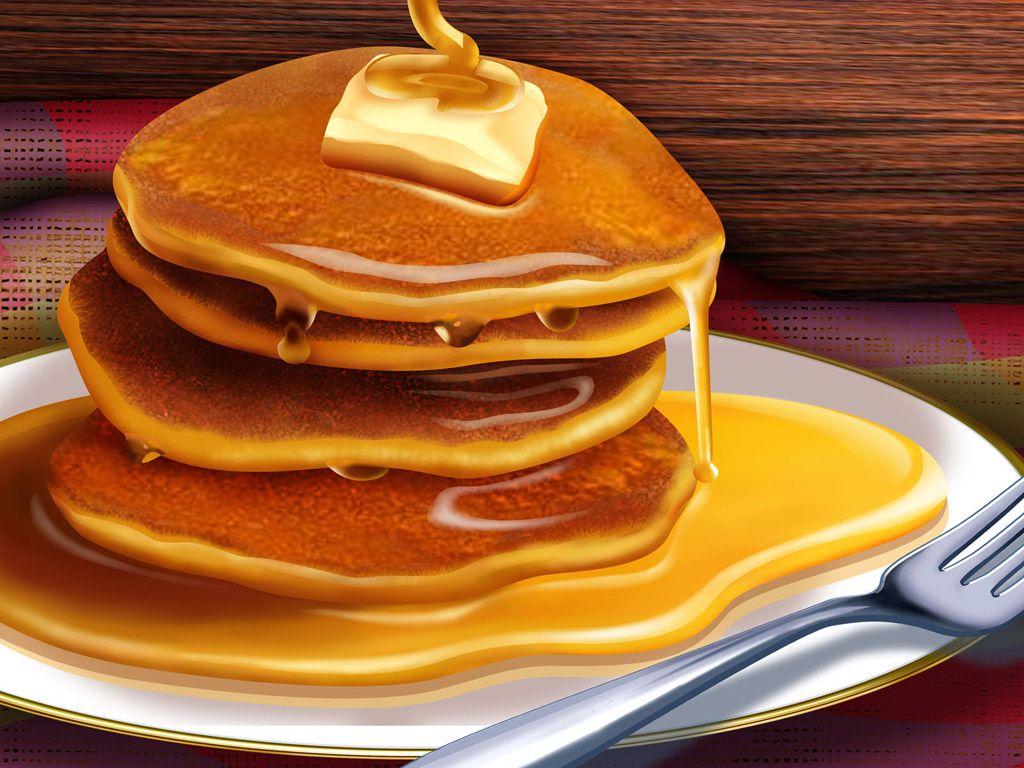 壁紙link パンケーキ Pancake 食べ物のアイデア 簡単デザート 食品イラスト