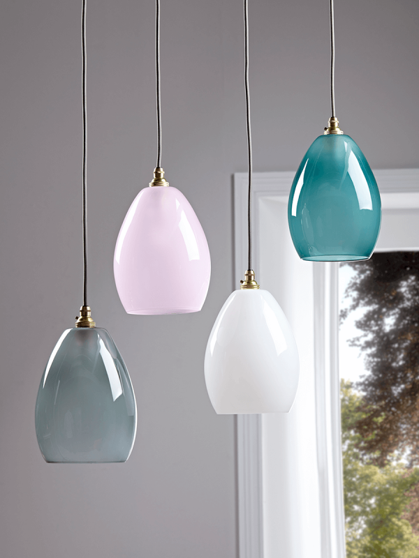 Handcrafted Gl Dome Light Teal Pendant Lighting Ceiling Lights