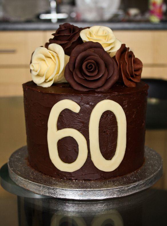 Chocolate Roses Birthday Cake Desserts Food Pinterest 60th