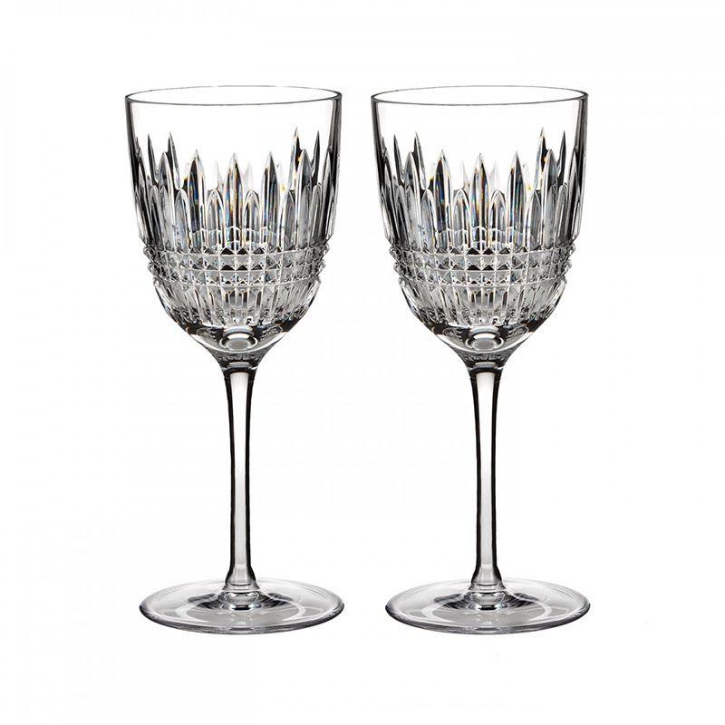 Waterford Lismore Diamond Pair of Wine Glasses