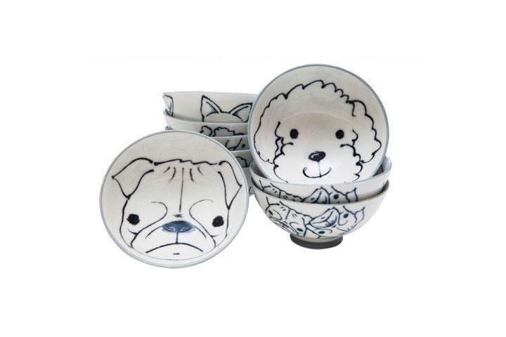 Japanese Dog Rice Bowls In 2018 Products Pinterest Tableware