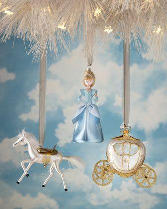 De Carlini Fairytale Princess Glass Christmas Ornaments ...