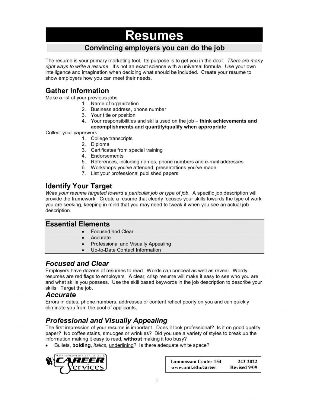 Curriculum Vitae Actual Curriculum vitae, Modelos de