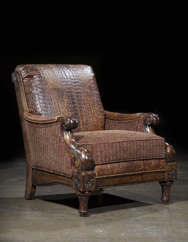 Stylish Recliner: Hand Crafted Western Furniture Custom Living Room By