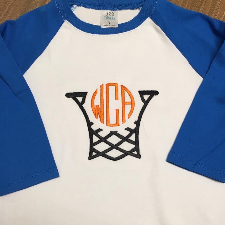 Basketball Embroidery Frame Sports shirts