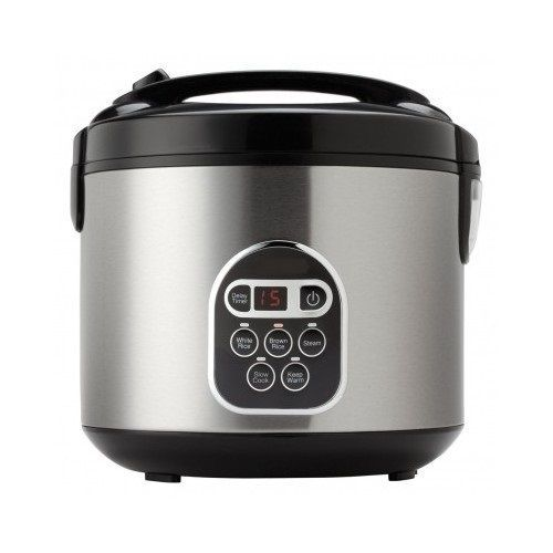 #ebay #Rice #Cooker #20-Cup #Cooked #Digital #Healthy #Food #Steamer #Timer, #Stainless #Steel