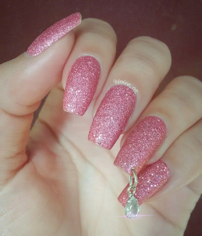 Glitter Nail Esmalte Avon Pink Crystal | Nail Art | Pinterest ...