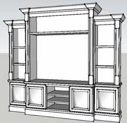 40 001pdf Elegant Entertainment Center Downloadable Woodworking