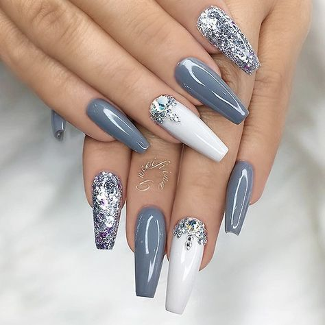 repost   •   grey silver glitter white and crystals