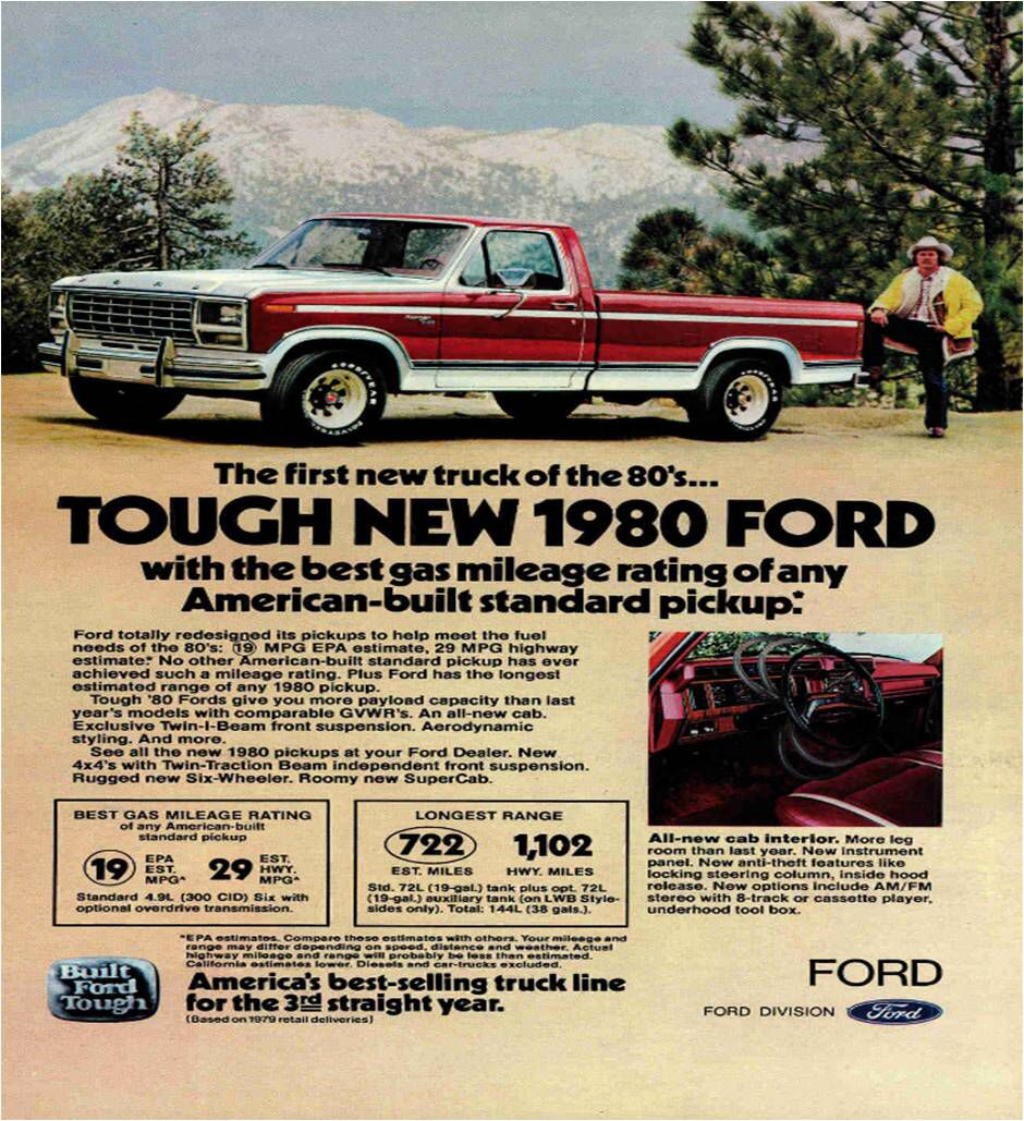 Ford Pickup F150 Automotive Advertisement Tough New 1980 Ford
