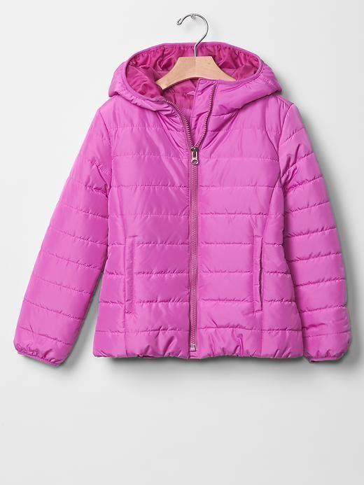 Girl GAP PrimaLoft Puffer Winter Jacket Black Lightweight Hood ...