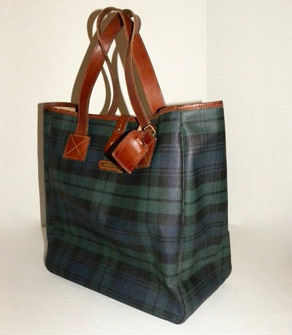 e329de53e0 Vintage Ralph Lauren POLO Large Tote Bag   Purse   Green