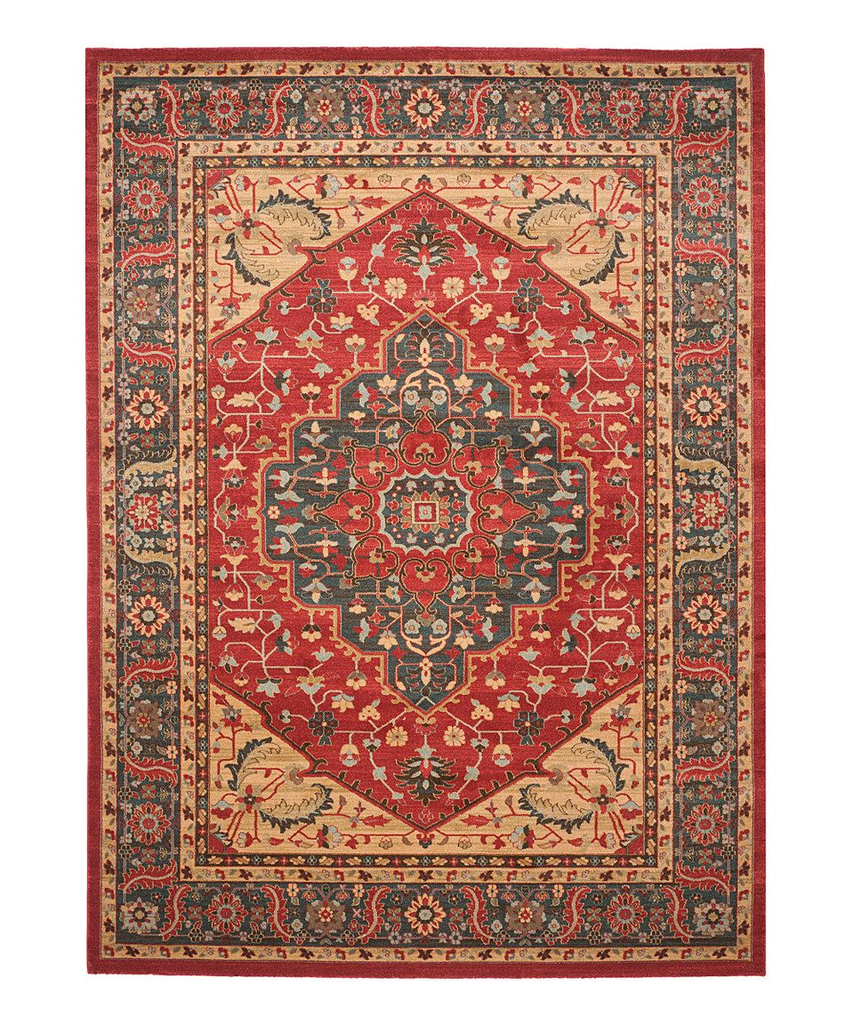 This Navy & Red Sabrina Power-Loomed Rug by Safavieh Rugs is perfect! #zulilyfinds