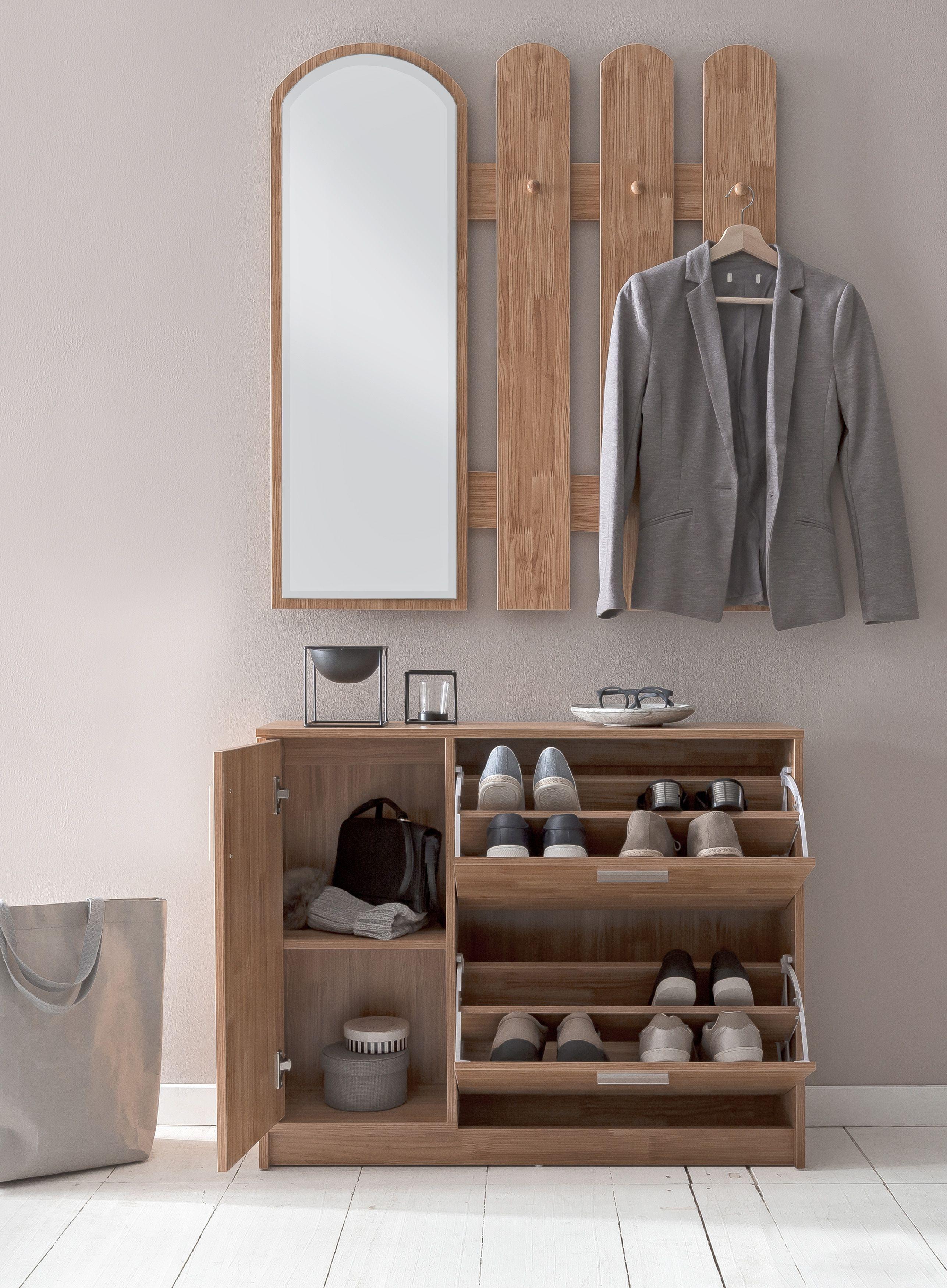 Wohnling Garderobe In Buche Wl5 820 Aus Melaminharzbeschichteter Spanplatte Wardrobe Flurschrank Schrankwand Kleideraufbewahrung