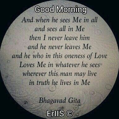 Good Morning Good Morning Wishes Gita Quotes Bhagavad Gita
