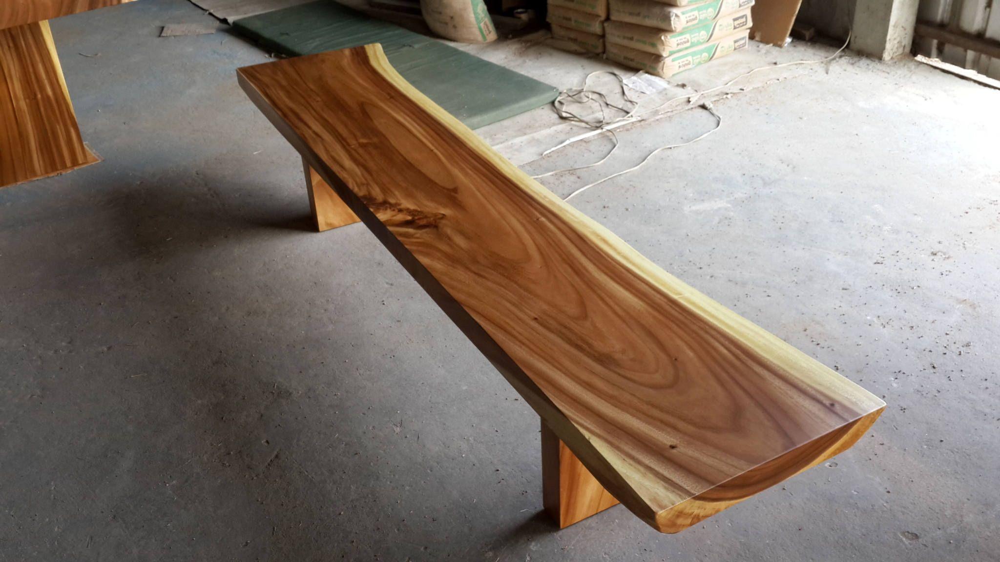 Live Edge Bench Table Acacia Wood Solid Slab Natural Shape