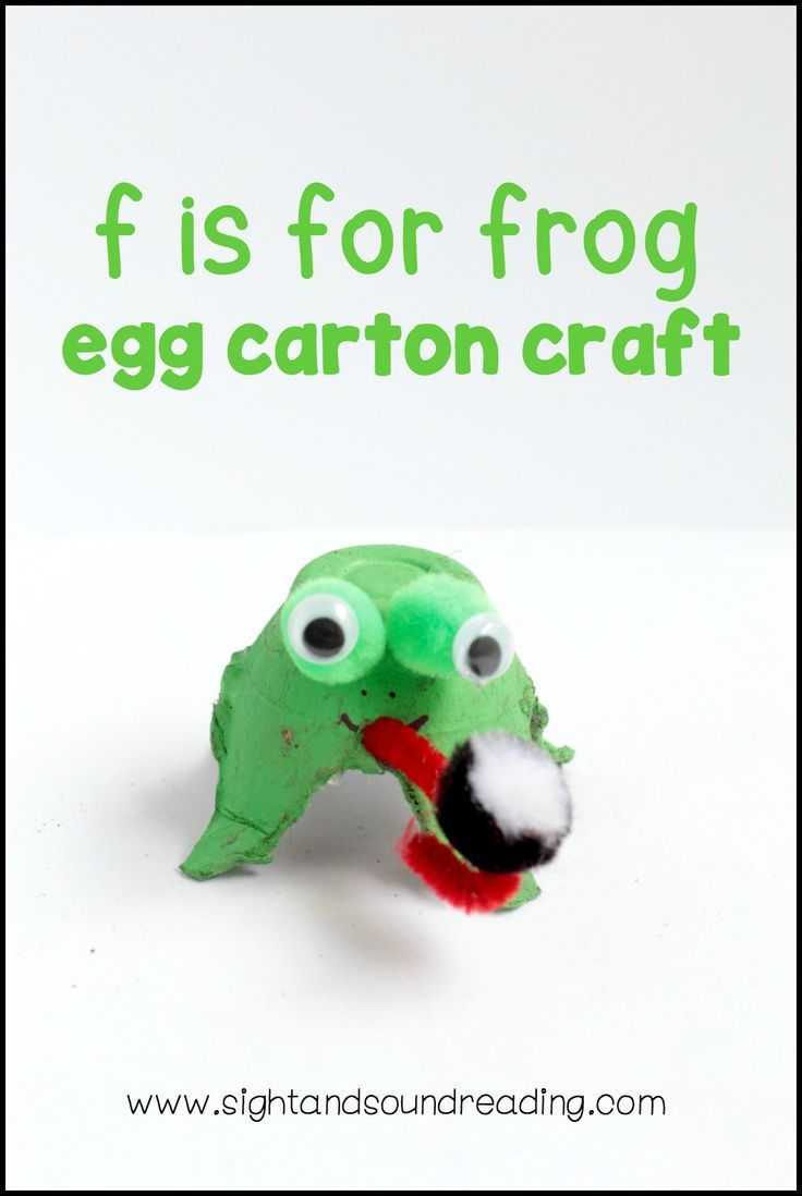 Letter F Craft - Fun and easy frog, made from an egg carton | Frog ...