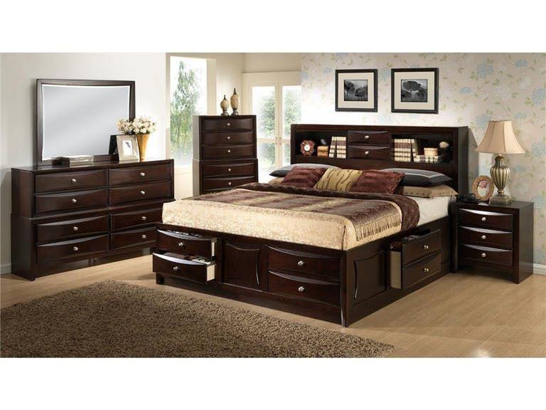 Lifestyle Davida Storage Bed - King 583932 Furniture Pinterest