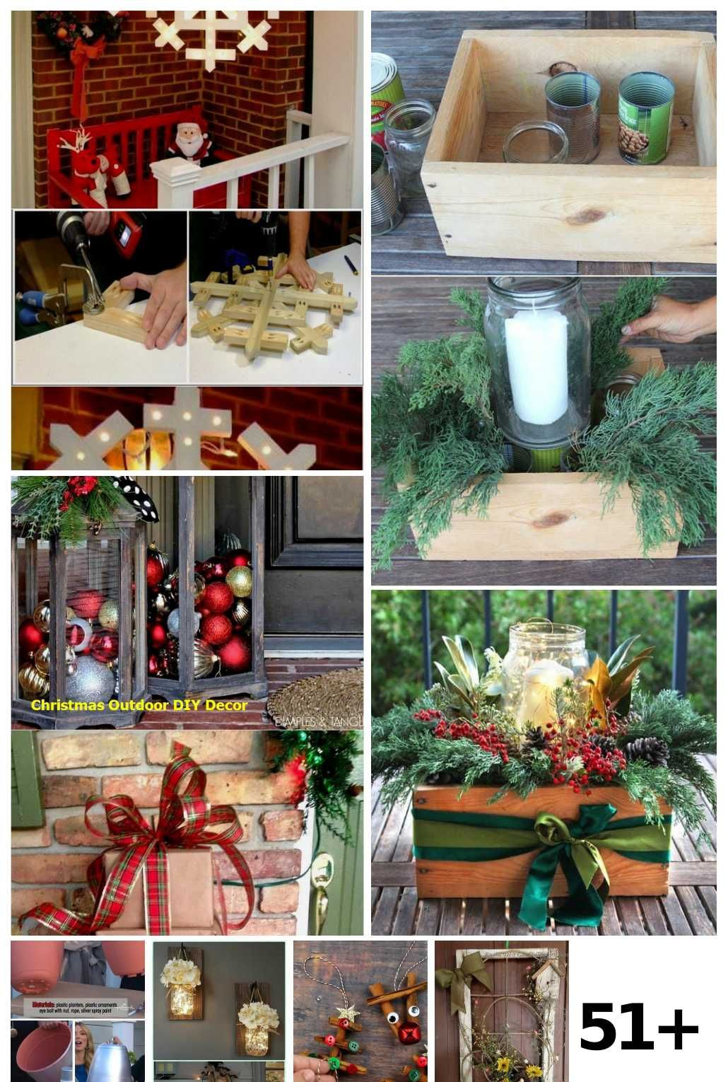 51 Christmas Garden Decor Diy Crafts Ideas In 2020 Christmas Garden Decorations Patio Decor Outdoor Diy Projects