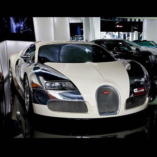 Lamborghini Bugatti: Stunning Bugatti Veyron In White And Brushed Steel For