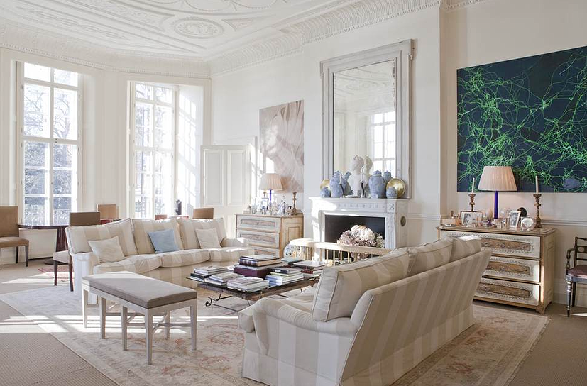 Chelsea Luxury Apartment Home London Chic Interior Classical Modern