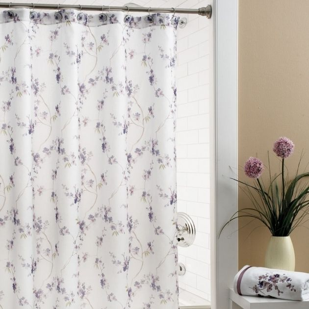 Beautiful Shower Curtains Purple And Grey Best Curtains 2017 Brown ...