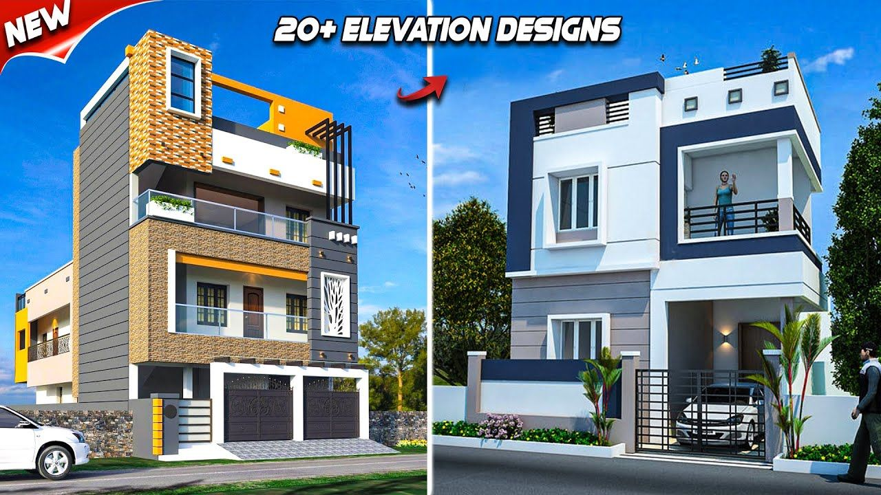 20+ Front Elevation Designs For 2 Floor House 💖 Double