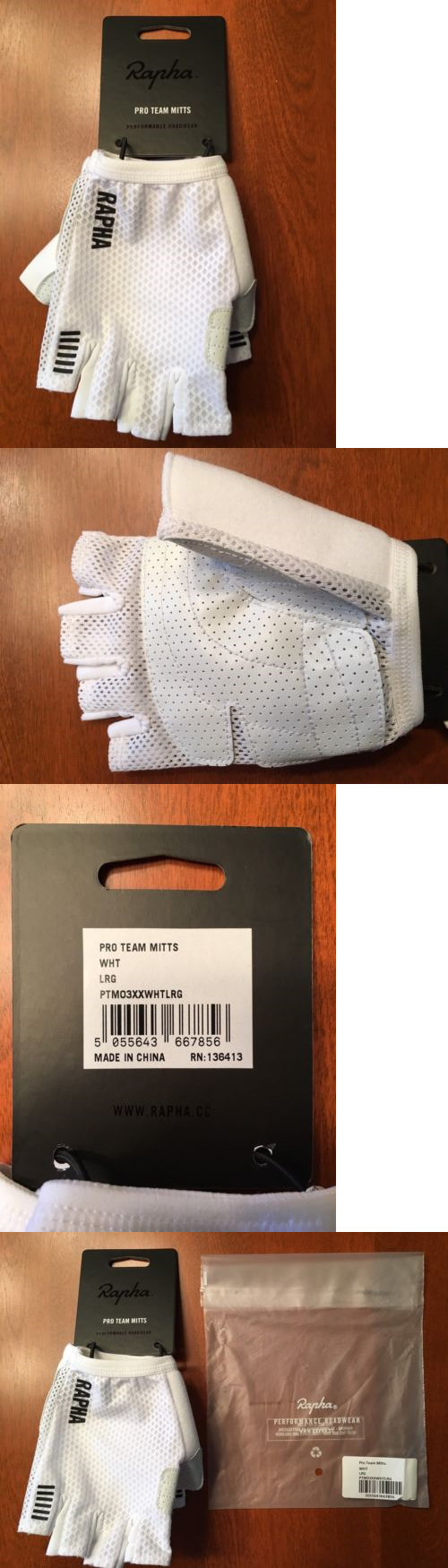 Gloves rapha pro team mitts gloves large white new in package