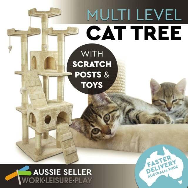 Cat Scratching Post Pole Scratcher Climbing Multi Level
