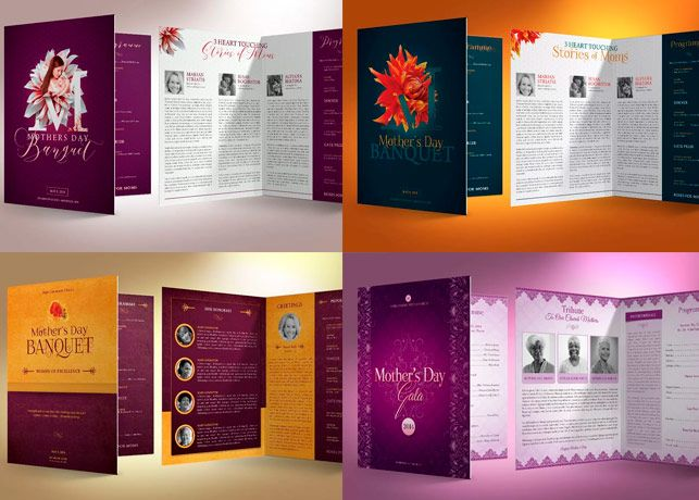 mothers day church program template created with photoshop for