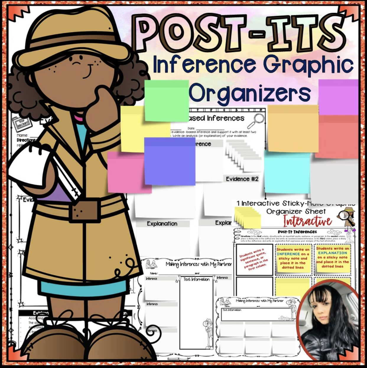 Inference Post Its Graphic Organizers 7